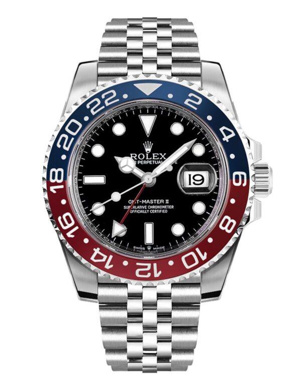Rolex GMT-Master II 126710BLRO Hombre 904L Acero Inoxidable Oystersteel 40MM