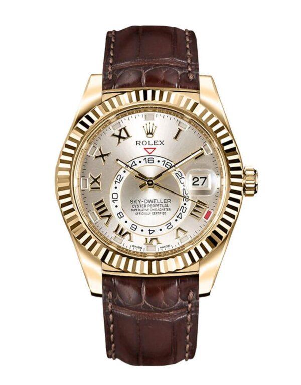 Rolex Sky-Dweller 326138 Hombre De Oro Amarillo De 18k 42MM
