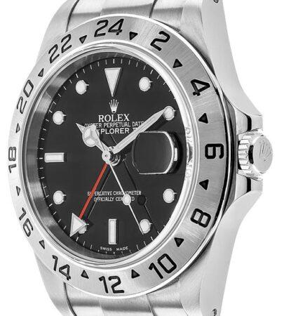 Rolex Explorer II 16570 Hombre 904L Acero inoxidable Oystersteel 40MM