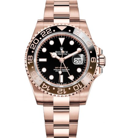 Rolex GMT Master II 126715CHNR Hombre 18k Everose Gold 40MM
