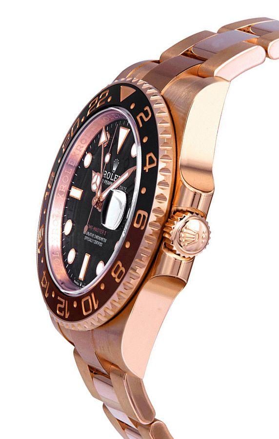 Rolex GMT Master II 126715CHNR Hombre 18k Everose Gold 40MM