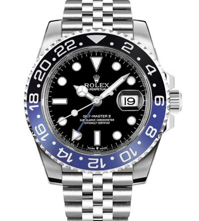 Rolex GMT-Master II 126710BLNR Hombre 904L Acero inoxidable Oystersteel 40MM