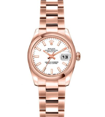 Rolex Datejust 179165 Mujer 18k Everose Gold 26MM