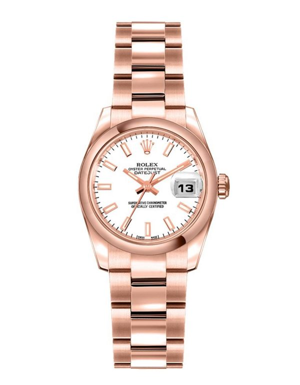 Rolex Datejust 179165 Mujer 18k Everose Gold 26MM