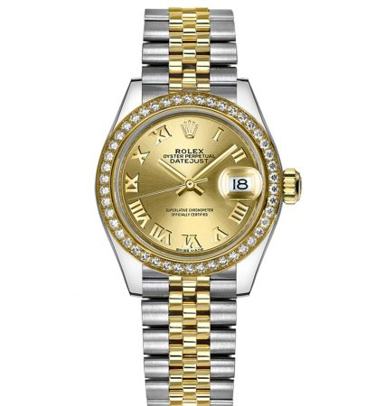 Rolex Datejust 279383RBR Mujer 904L Acero inoxidable Oystersteel 28MM