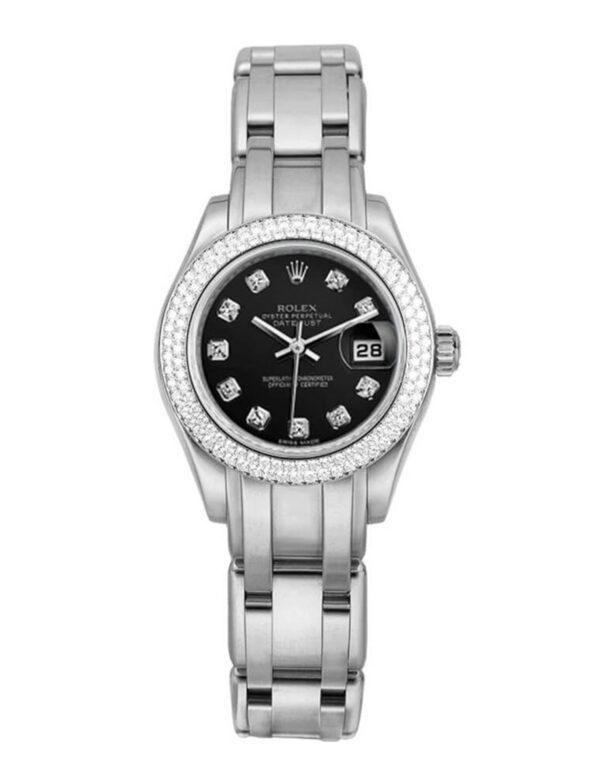 Rolex Pearlmaster 80339 Mujer 18k Oro blanco 28MM