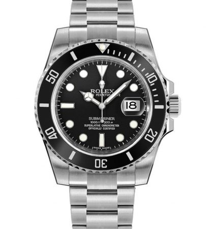 Rolex Submariner Date 116610LN Hombre 904L Acero inoxidable Oystersteel 40MM